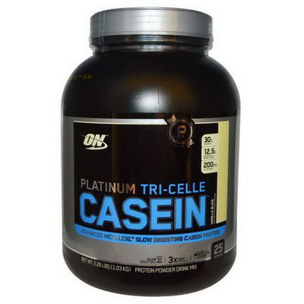 Optimum Nutrition, Platinum Tri-Celle Casein, Vanilla Bliss 1.03 kg
