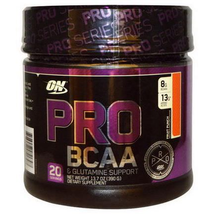 Optimum Nutrition, Pro BCAA&Glutamine Support, Fruit Punch 390g