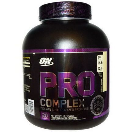 Optimum Nutrition, Pro Complex, Isolate&Hydrolyzed Proteins, Creamy Vanilla 1.5 kg