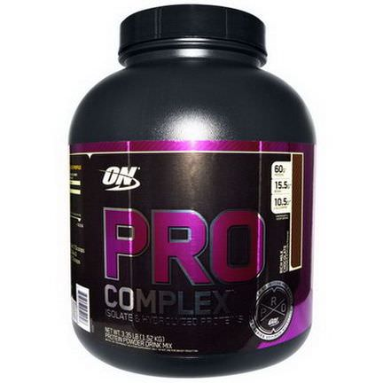 Optimum Nutrition, Pro Complex, Isolate&Hydrolyzed Proteins, Rich Milk Chocolate 1.52 kg
