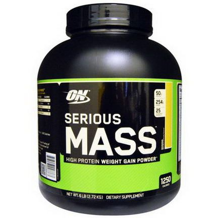 Optimum Nutrition, Serious Mass, High Protein Weight Gain Powder, Banana 2.72 kg