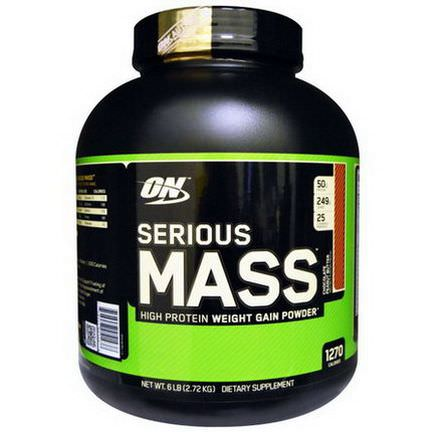 Optimum Nutrition, Serious Mass, High Protein Weight Gain Powder, Chocolate Peanut Butter 2.72 kg
