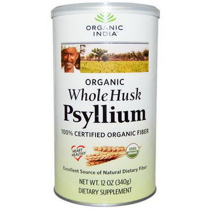 Organic India, Psyllium, Whole Husk 340g