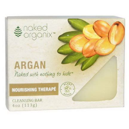 Organix South, Naked Organix, Argan, Cleansing Bar, Fragrance Free 113g