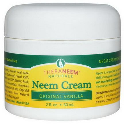 Organix South, TheraNeem Naturals, Neem Cream, Original Vanilla 60ml