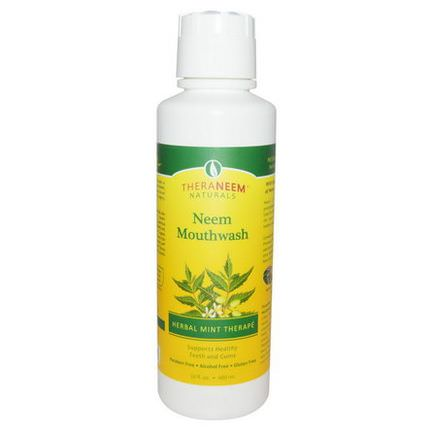 Organix South, TheraNeem Naturals, Neem Mouthwash, Herbal Mint Therape 480ml