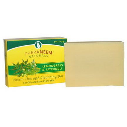 Organix South, TheraNeem Naturals, Neem Therape Cleansing Bar, Lemongrass&Patchouli 113g