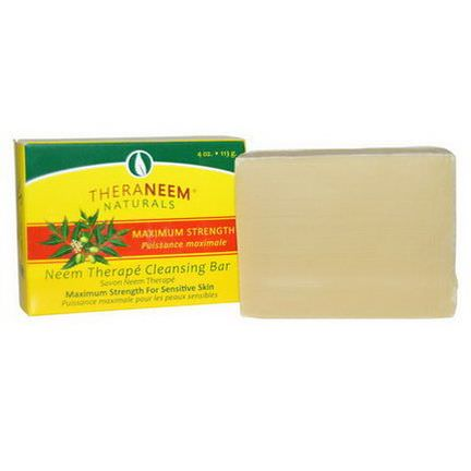 Organix South, TheraNeem Naturals, Neem Therapy Cleansing Bar, Maximum Strength 113g