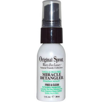 Original Sprout Inc, Tangle&Frizz-Free, Miracle Detangler 30ml