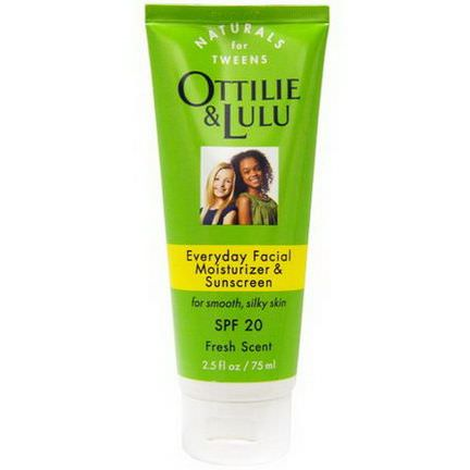 Ottilie&Lulu, Everyday Facial Moisturizer&Sunscreen, SPF 20, Fresh Scent 75ml