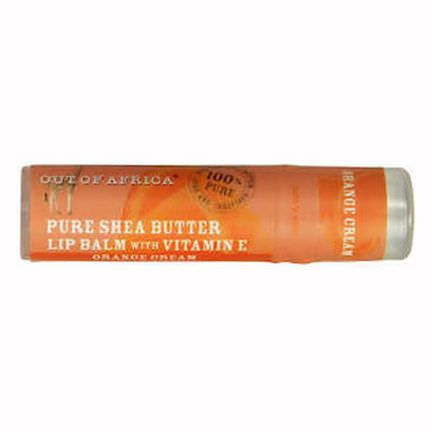 Out of Africa, 100% Pure&Unrefined Shea Butter Lip Balm with Vitamin E, Orange Cream 7.0gm