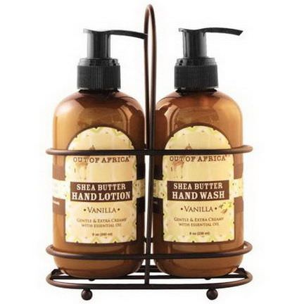 Out of Africa, Hand Caddy, Hand Wash&Lotion Set, Vanilla, 2 Piece Set 230ml Each