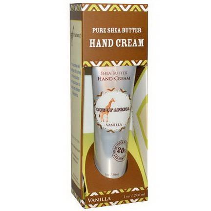 Out of Africa, Pure Shea Butter, Hand Cream, Vanilla 29.6ml