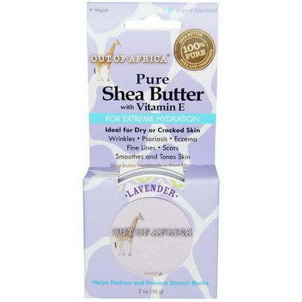 Out of Africa, Pure Shea Butter, with Vitamin E, Lavender 56g