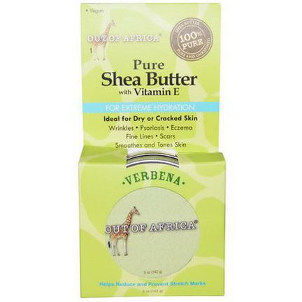 Out of Africa, Pure Shea Butter, with Vitamin E, Verbena 142g