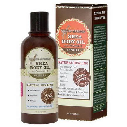 Out of Africa, Shea Body Oil with Vitamin E, Vanilla 266ml