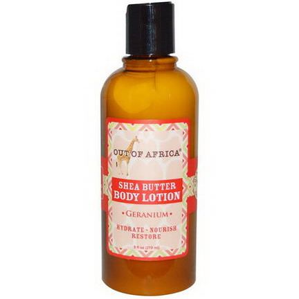Out of Africa, Shea Butter Body Lotion, Geranium 270ml