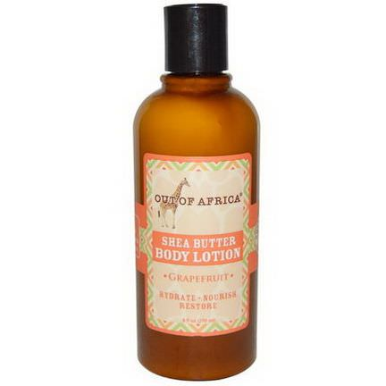 Out of Africa, Shea Butter Body Lotion, Grapefruit 270ml