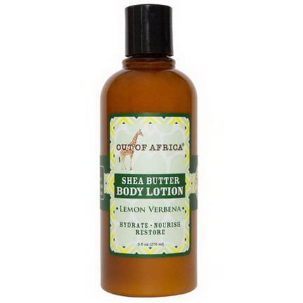 Out of Africa, Shea Butter Body Lotion, Lemon Verbena 270ml