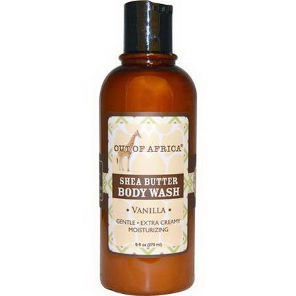 Out of Africa, Shea Butter Body Wash, Vanilla 270ml