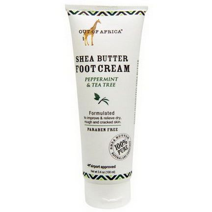 Out of Africa, Shea Butter Foot Cream, Peppermint&Tea Tree 100ml