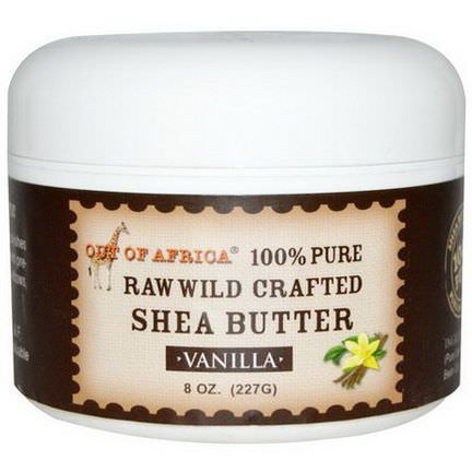 Out of Africa, Shea Butter, Raw Wild Crafted, Vanilla 227g