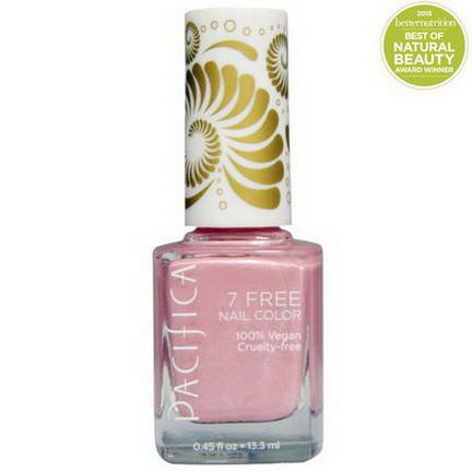 Pacifica, 7 Free Nail Color, Pink Crush 13.3ml