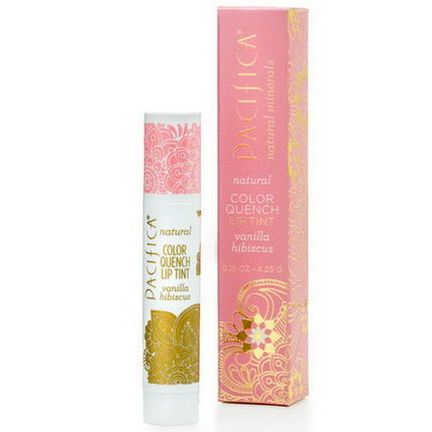 Pacifica, Natural Color Quench Lip Tint, Vanilla Hibiscus 4.25g