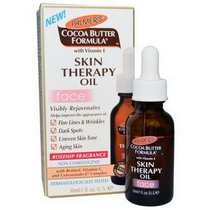 Palmer's, Cocoa Butter Formula, Skin Therapy Oil, Face, Rosehip Fragrance 30ml