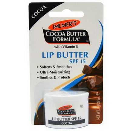 Palmer's, Cocoa Butter Formula, with Vitamin E, Lip Butter, SPF 15 8g