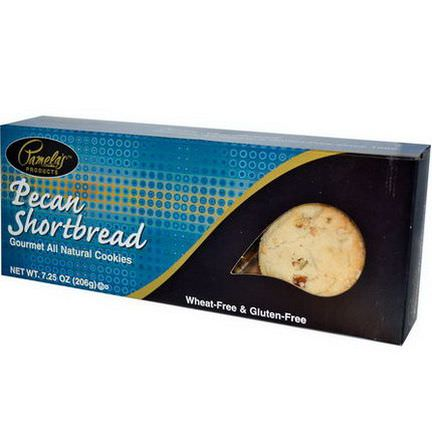 Pamela's Products, Gourmet All Natural Cookies, Pecan Shortbread 206g