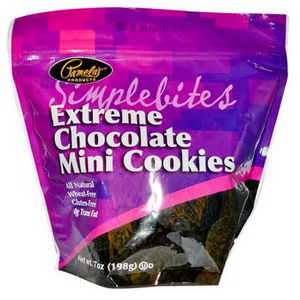 Pamela's Products, Simplebites, Extreme Chocolate Mini Cookies 198g