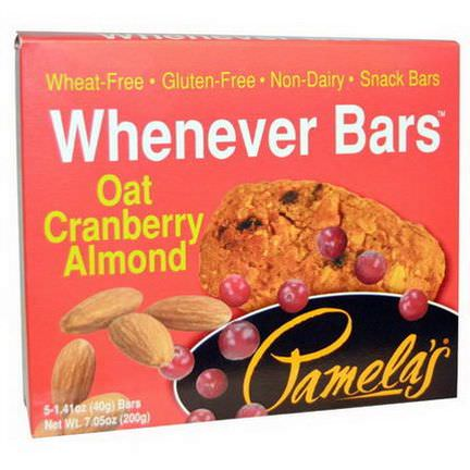 Pamela's Products, Whenever Bars, Oat Cranberry Almond, 5 Bars 40g Each