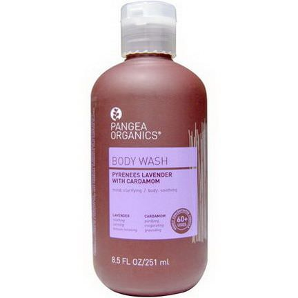 Pangea Organics, Pyrenees Lavender with Cardamom, Lavender, Body Wash 251ml
