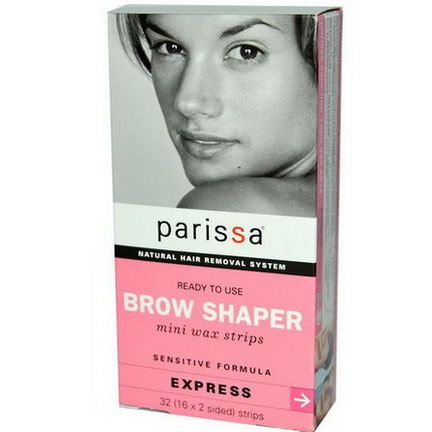 Parissa, Brow Shaper, Mini Wax Strips 16 x 2 sided Strips
