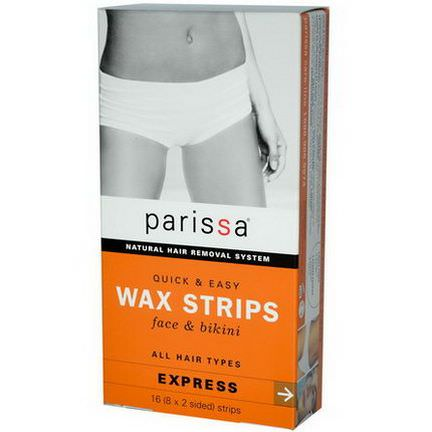 Parissa, Natural Hair Removal System, Wax Strips 8x2 Sided Strips