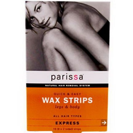 Parissa, Quick&Easy Wax Strips, Legs&Body 8 Two-Sided Strips