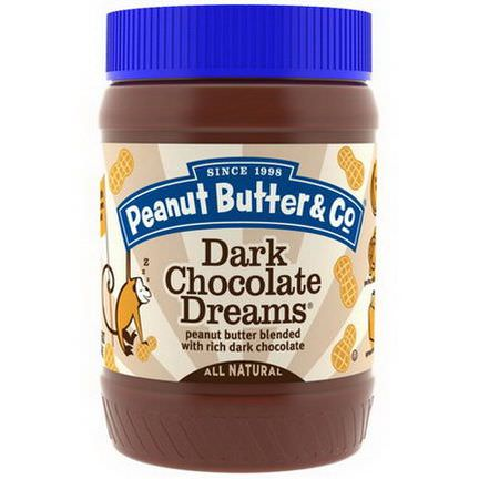Peanut Butter&Co. Peanut Butter Blended With Rich Dark Chocolate, Dark Chocolate Dreams 454g