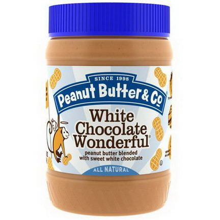 Peanut Butter&Co. White Chocolate Wonderful, Peanut Butter Blended with Sweet White Chocolate 454g