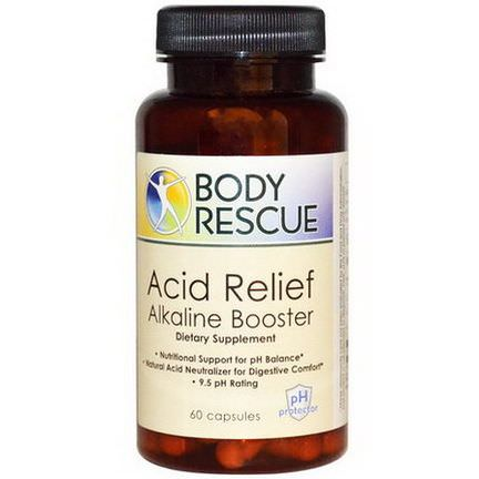 Peelu, Body Rescue Acid Relief Alkaline Booster, 60 Capsules