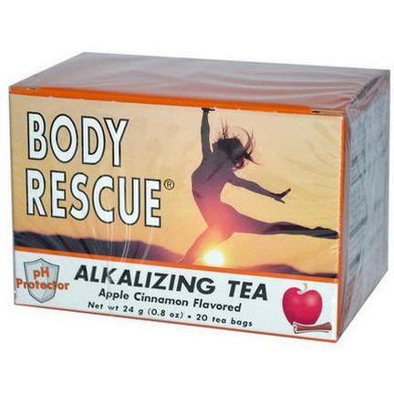 Peelu, Body Rescue, Alkalizing Tea, Apple Cinnamon Flavor 24g, 20 Tea Bags