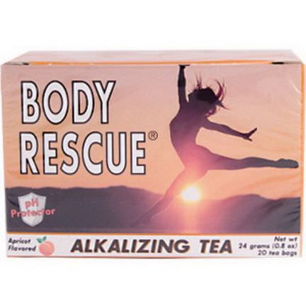 Peelu, Body Rescue, Alkalizing Tea, Apricot Flavored 0.8 oz 20 Tea Bags