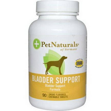Pet Naturals of Vermont, Bladder Support, For Dogs, 90 Smoke Flavored Chewable Tablets