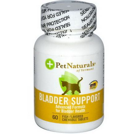 Pet Naturals of Vermont, Bladder Support, for Cats, 60 Fish Flavored Chewable Tablets