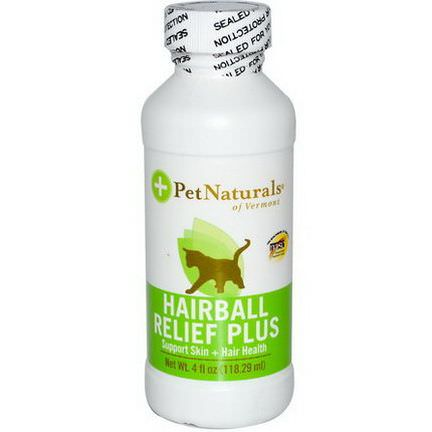Pet Naturals of Vermont, Hairball Relief Plus, For Cats 118.29ml
