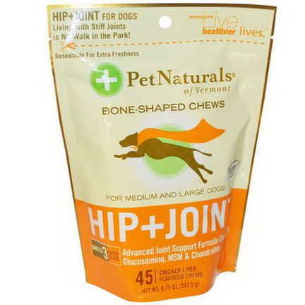 Pet Naturals of Vermont, Hip Joint, For Medium and Large Dogs 247.5g