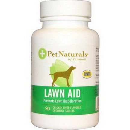 Pet Naturals of Vermont, Lawn Aid for Dogs, Chicken Liver Flavored, 90 Chewable Tablets