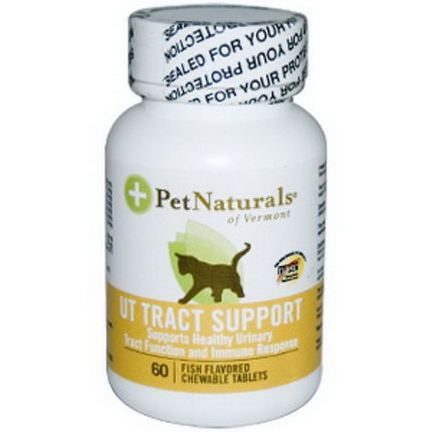 Pet Naturals of Vermont, UT Tract Support for Cats, 60 Fish Flavored Chewable Tablets
