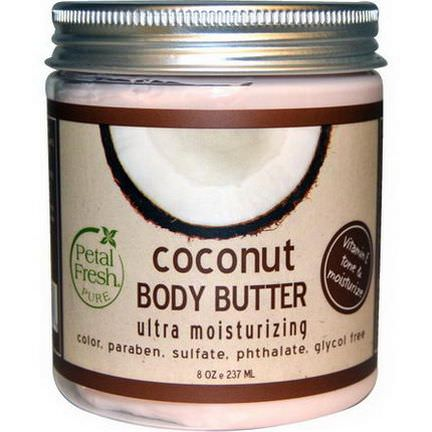 Petal Fresh, Body Butter, Ultra Moisturizing, Coconut 237ml