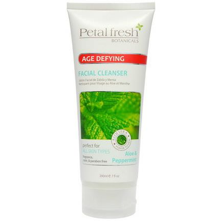Petal Fresh, Botanicals, Age Defying, Facial Cleanser, Aloe&Peppermint 200ml